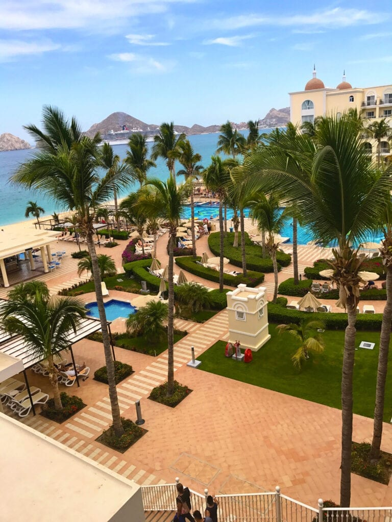 view from hotel room he Rui Hotel and Resort, Cabo San Lucas, Mexico