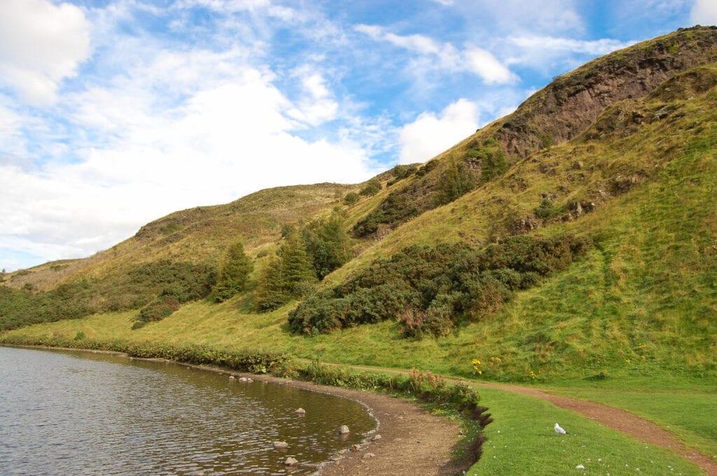 Lake and hillside in Ireland