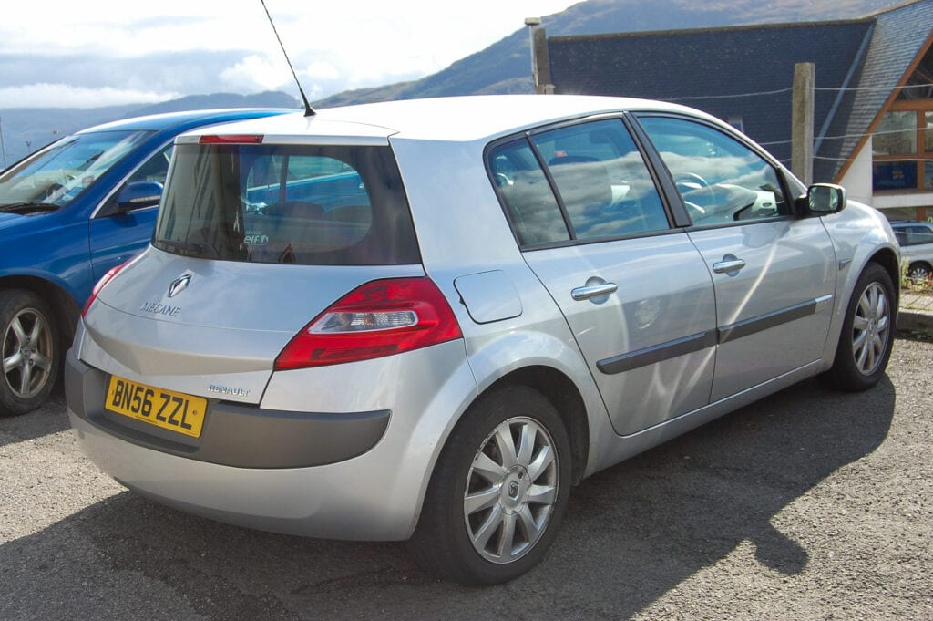 Rental car in the Highlands, Scotland