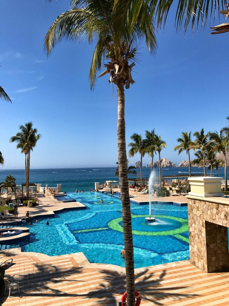 view of the pool he Rui Hotel and Resort, Cabo San Lucas, Mexico
