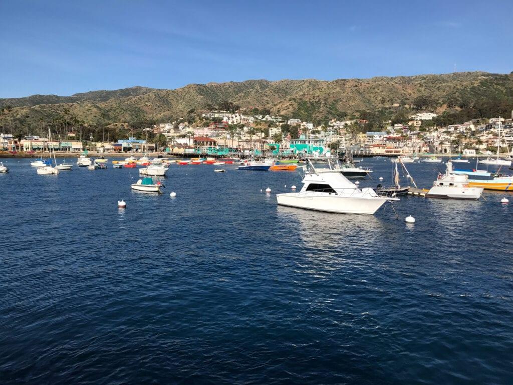 view of Catalina Island harbor