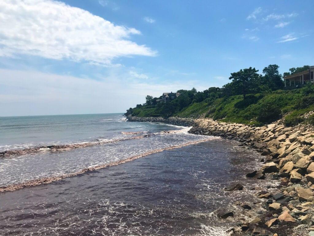 Easton's Beach ocean and waves