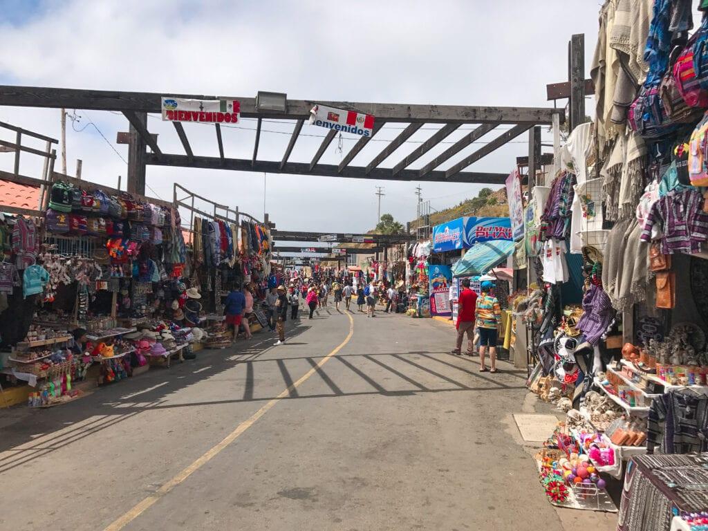 street view of flea market in Mexico