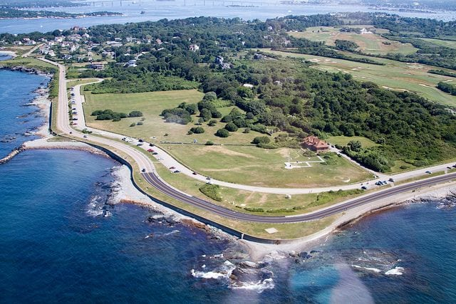 brenton point state park aerial view