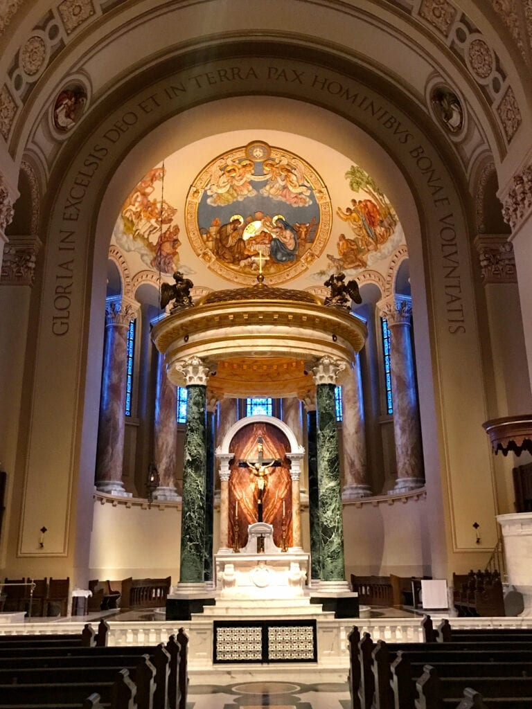 inside view of st joseph cathedral sioux falls SD