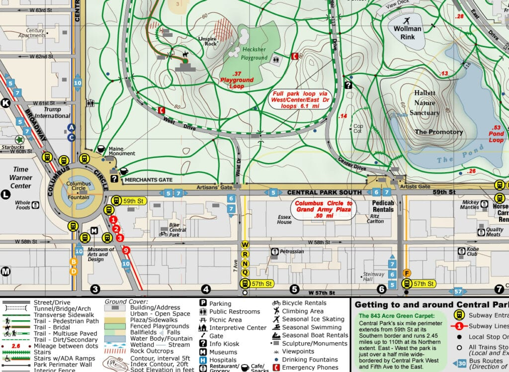 Central Park Map, New York