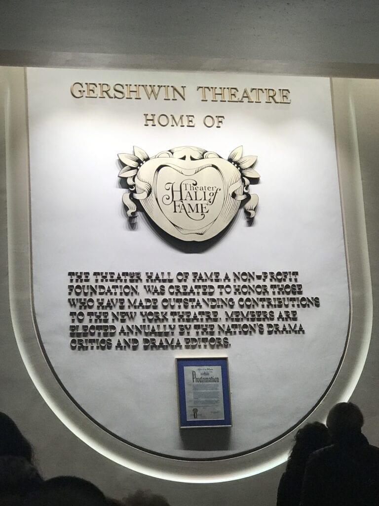 Gershwin Theatre Sign New York