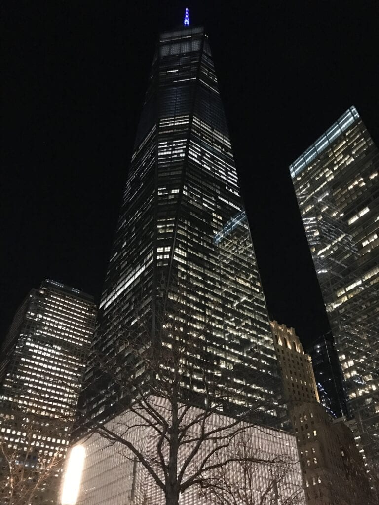 New York Skyline at 9/11 Memorial
