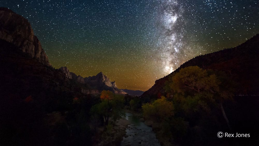 Night Sky overlooking Zion National Park