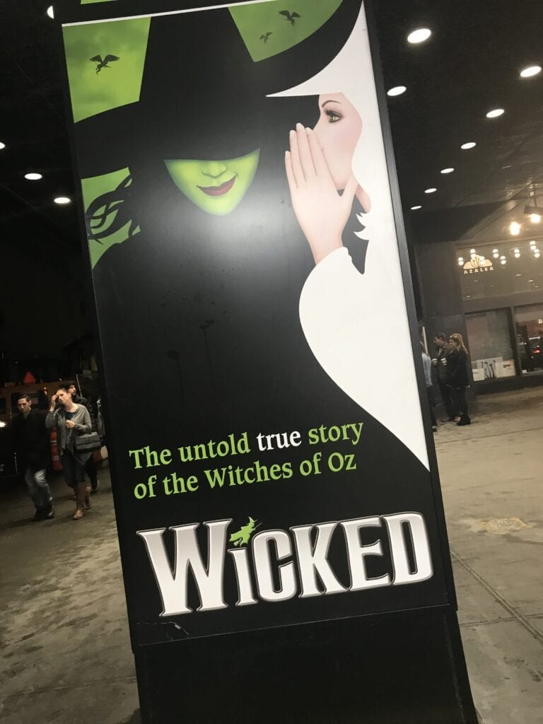 Wicked Sign Broadway New York