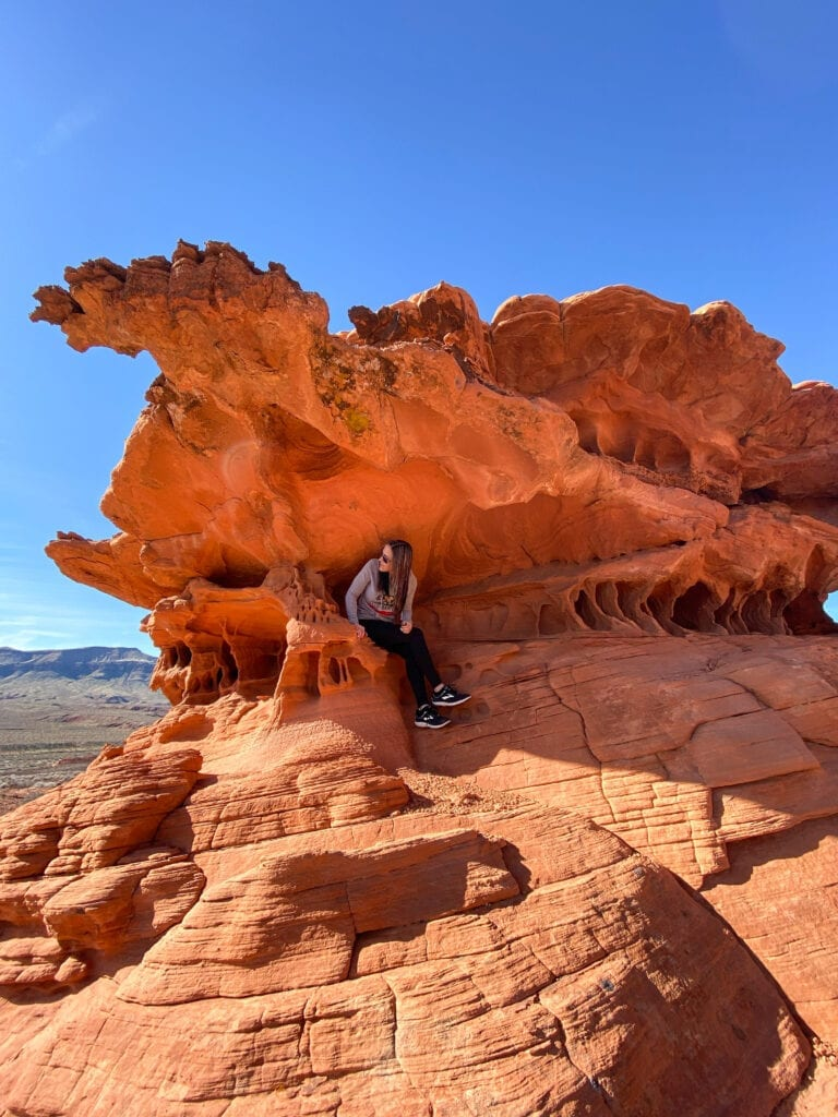 girl at gold butte national monument