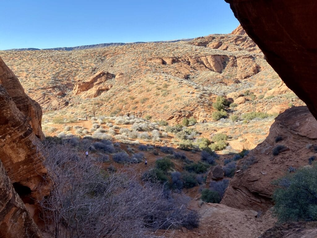 bottom of elephant arch looking down from the top