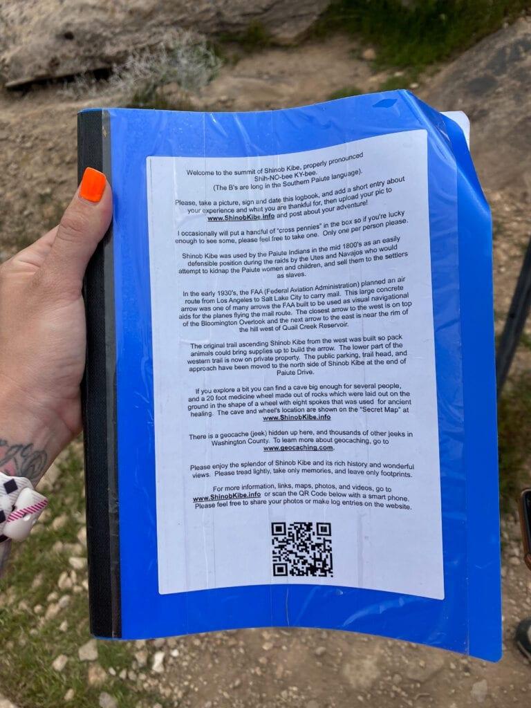 book to sign at Shinobe Kibe Trail