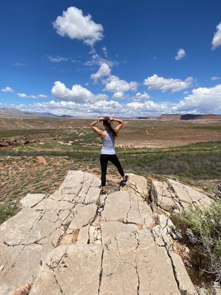 girl hiking ranger bart