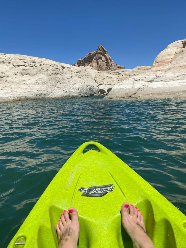 lone rock kayaking