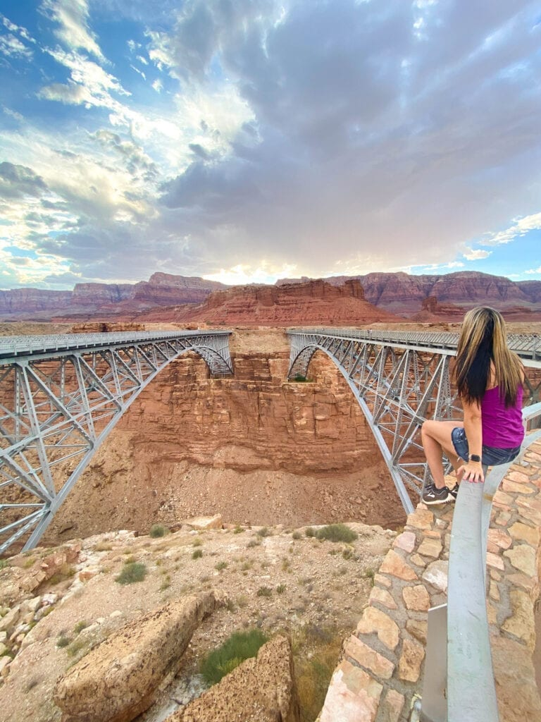 Girl on Navajo Bridge AZ