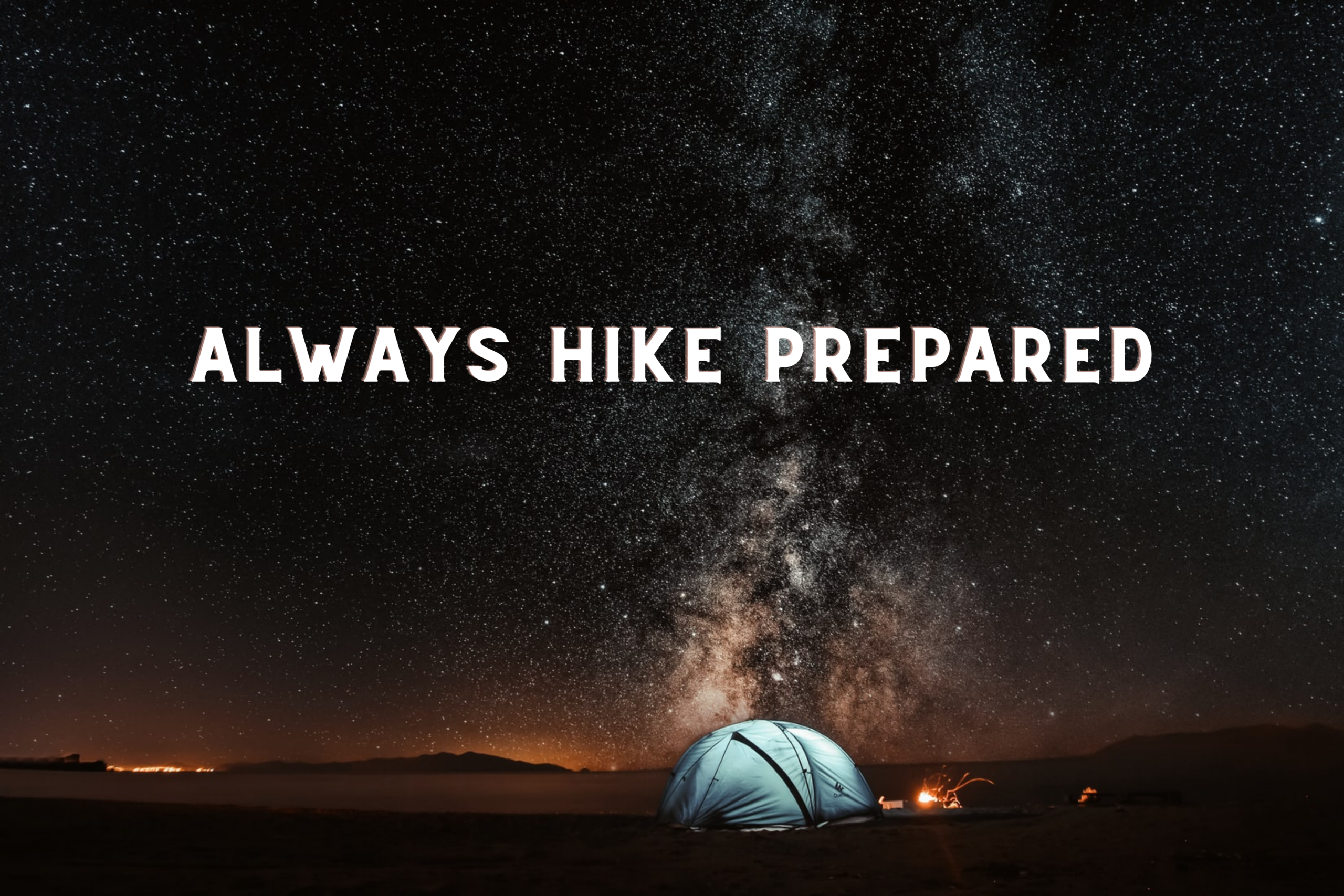 Emergency hiking gear list