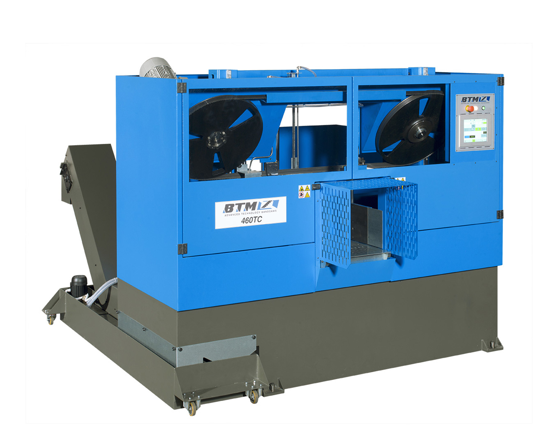 Top head & tail tilted wheels bandsaw
