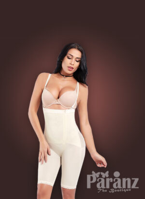 Open bust style tummy slimming body shaper with front zipper closure new views