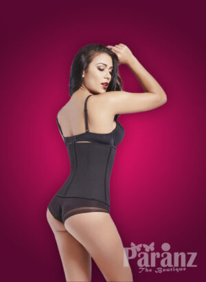 Sturdy and smooth high waist shaper with perfect tummy control Back side view