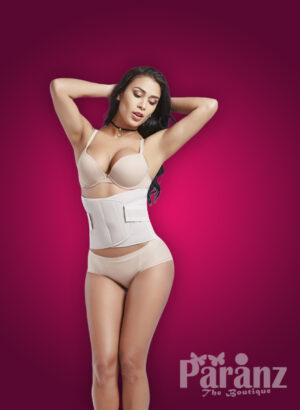 Sturdy and smooth high waist shaper with perfect tummy control in white