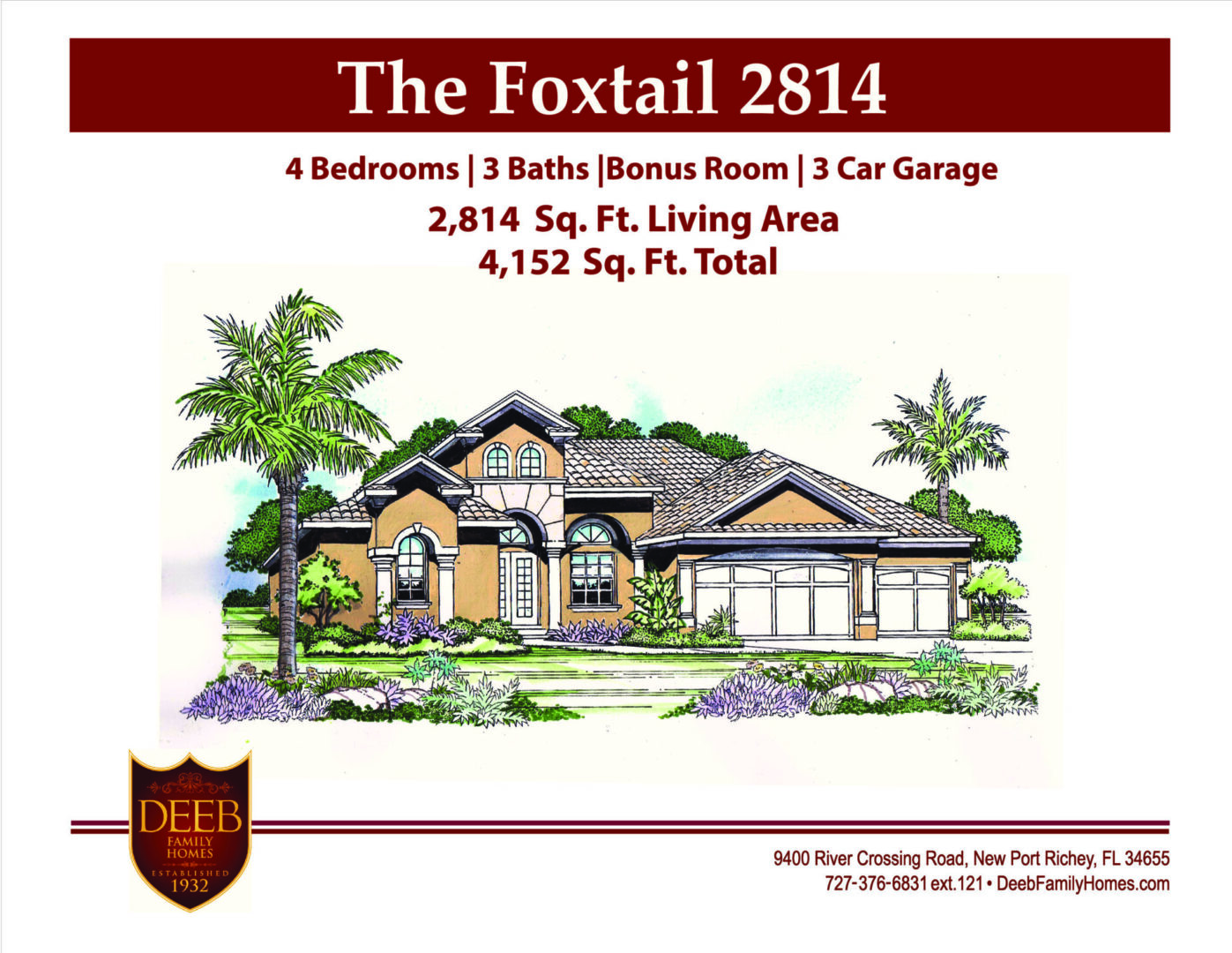 Foxtail 2814 Front elevation