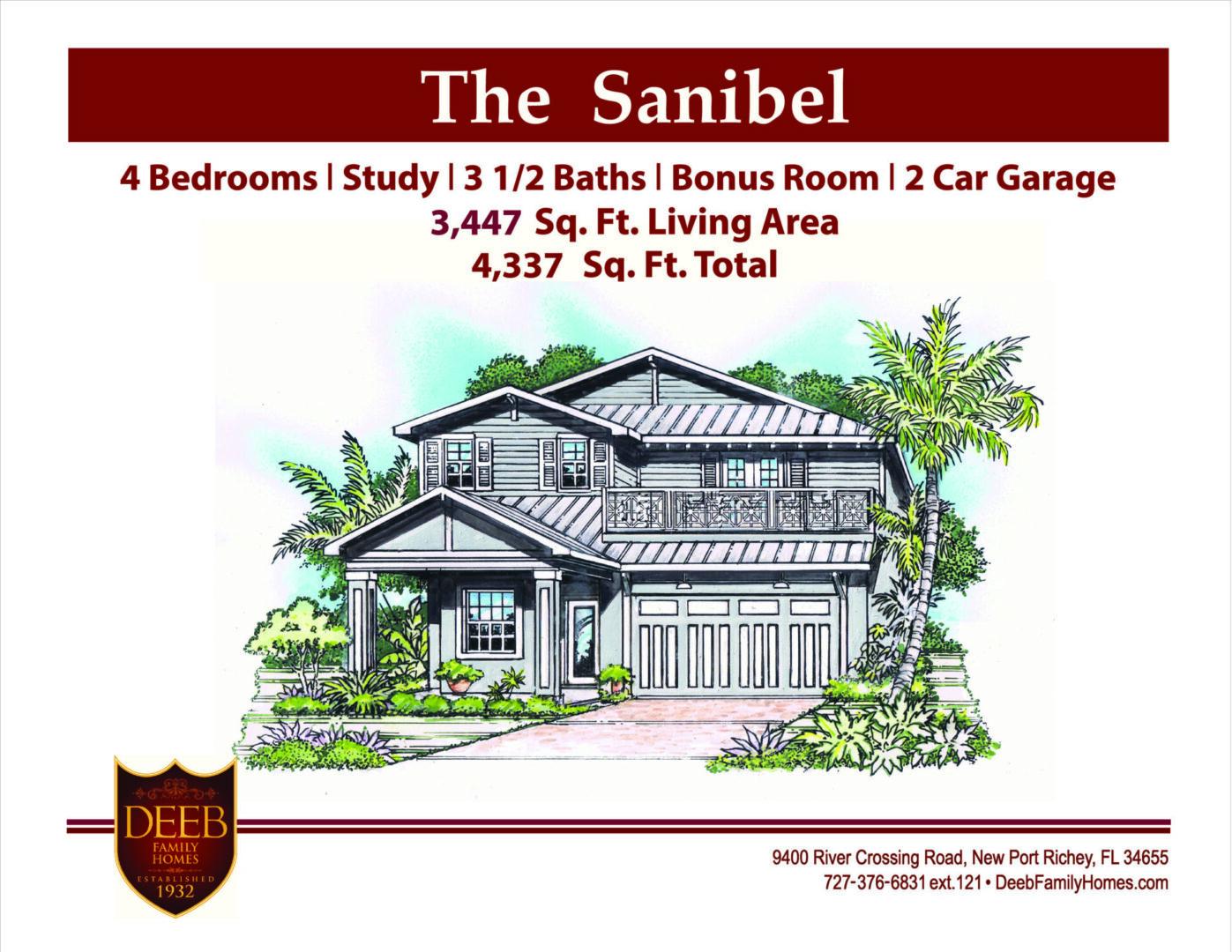 Sanibel 3447 Elevation