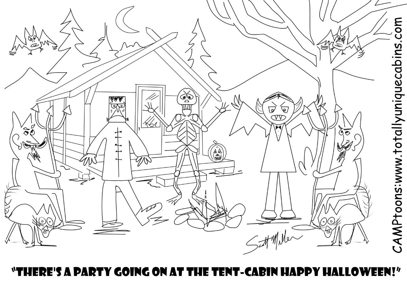 Tent Cabin Halloween