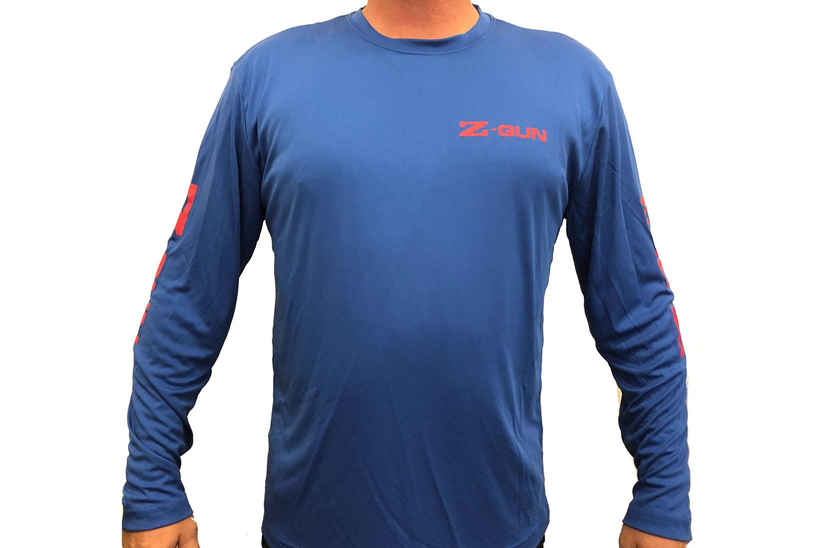 Zoli Z-GUN Long Sleeve Sport Shirt ( Blue )