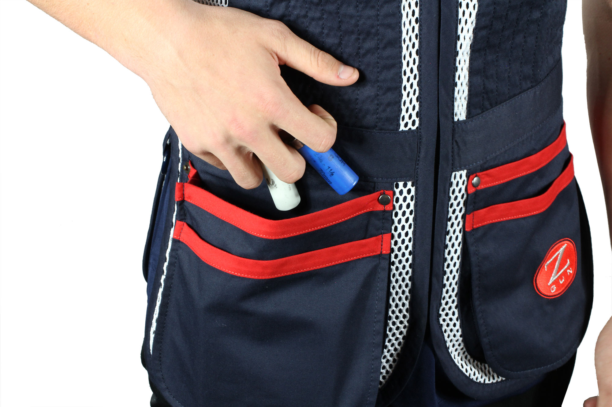 Zoli Shooter Vest by Castellani front pocket