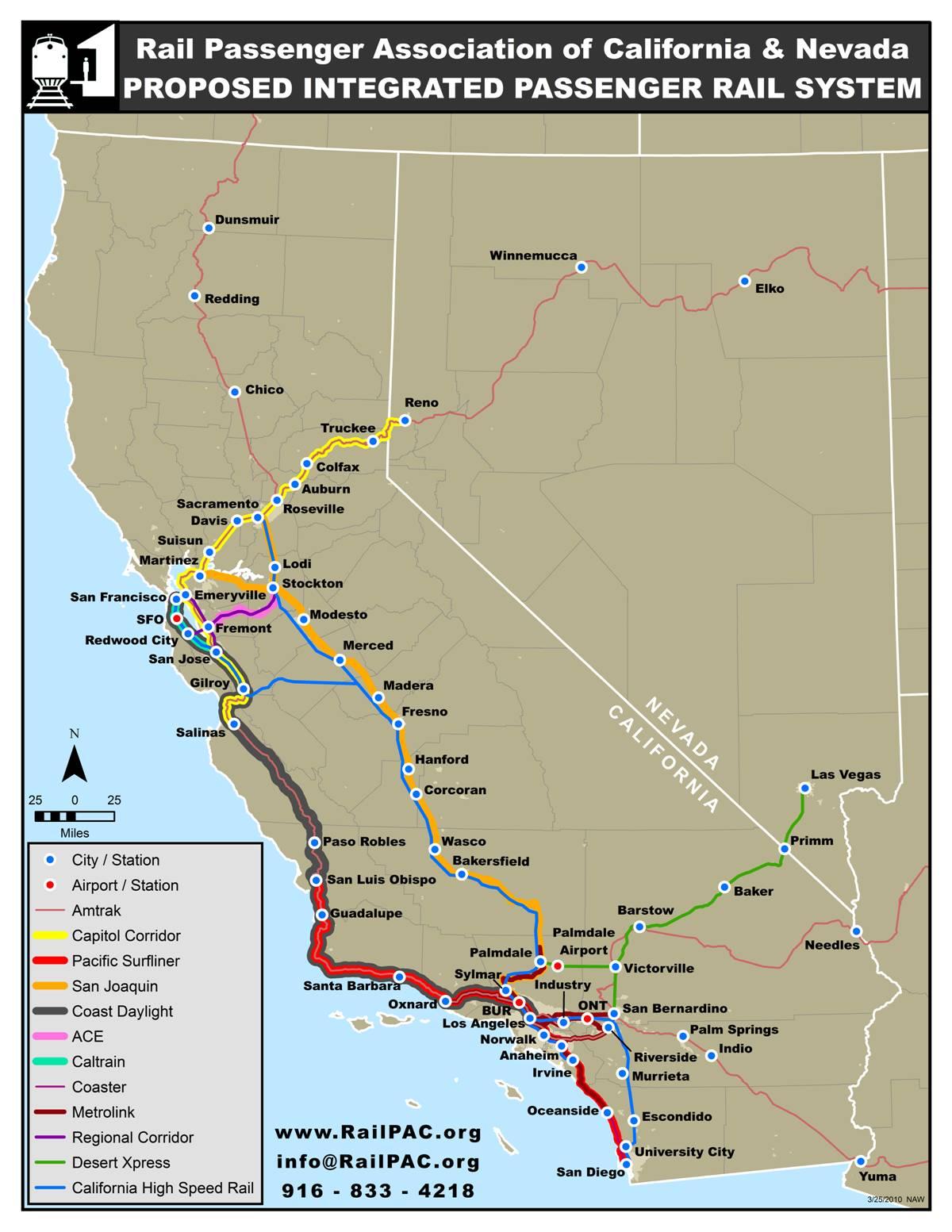 Proposed Passenger Rail System