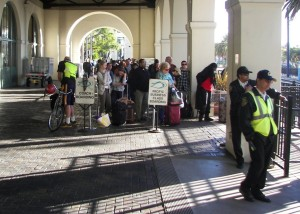 Noel San Diego station crowd 2-2013
