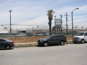 This is the view of where my old apartment use to be today.The only landmark left is the power pole in the back.