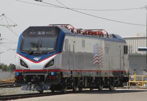 Amtrak new NEC loco at Sacramento 5-2013