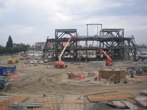 Recent Construction of the Anaheim Regional Transportation Intermodel Center