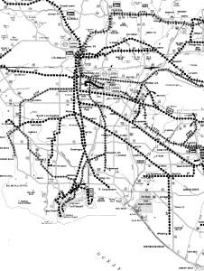 LA old rail Map