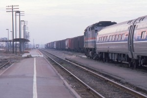 Oceanside in late 1983 at the old train station just before the opening of the Transportation Center