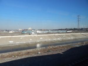Noel 2-2014 Metrolink at LA River