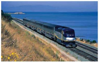 Capitol Corridor train near Martinez CA.  Will the JPA seek alternatives to Amtrak? Copyright Dr. Stefan Petersen