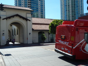 Rapid Bus 235 at the San Diego terminal, The Santa Fe Depot