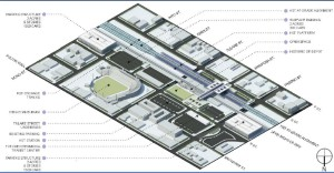City of Fresno Graphic of plans in the area of the High Speed Rail Station