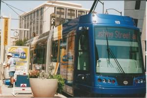 Strandberg trip 7-2014 Tucson trolley 1 Congress & Stone