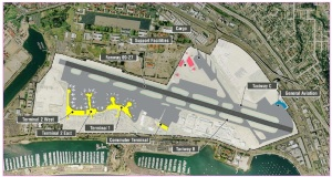 This is a view of the San Diego Airport from 2012. Click on all pictures to enlarge
