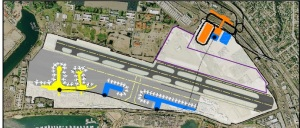 This shows the airport between 2020 and 2035. The People Mover will be installed and more gates added to the airport