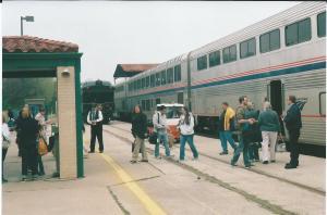 Strandberg trip 3-2014 Austin station #22 loading w pvt car