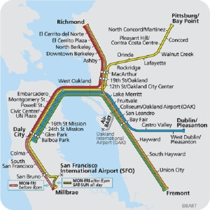 BART system Map Click on all images to enlarge