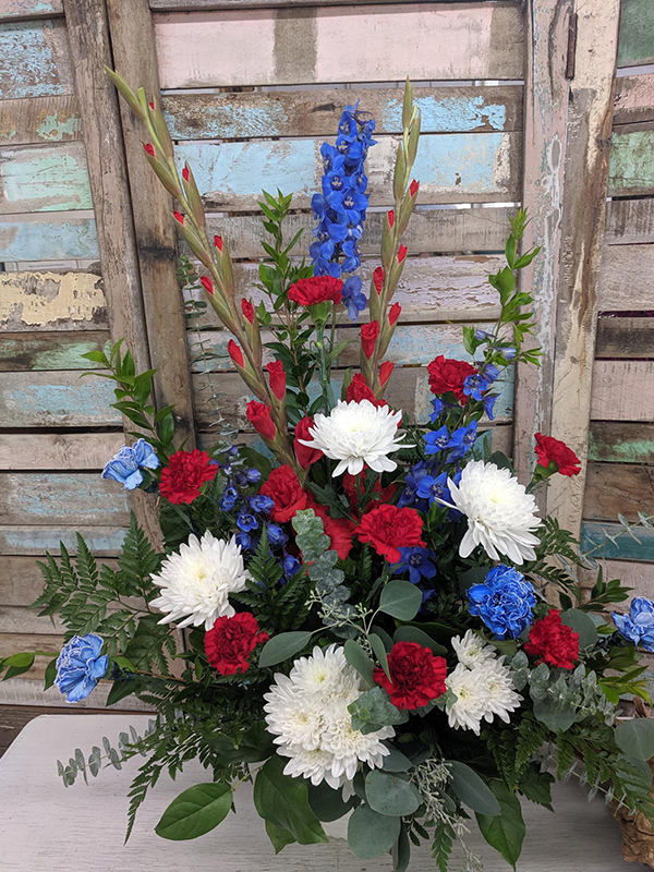 Red White and Blue Glory Mache