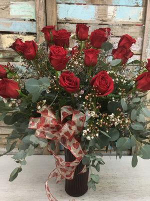Two Dozen Roses Vase