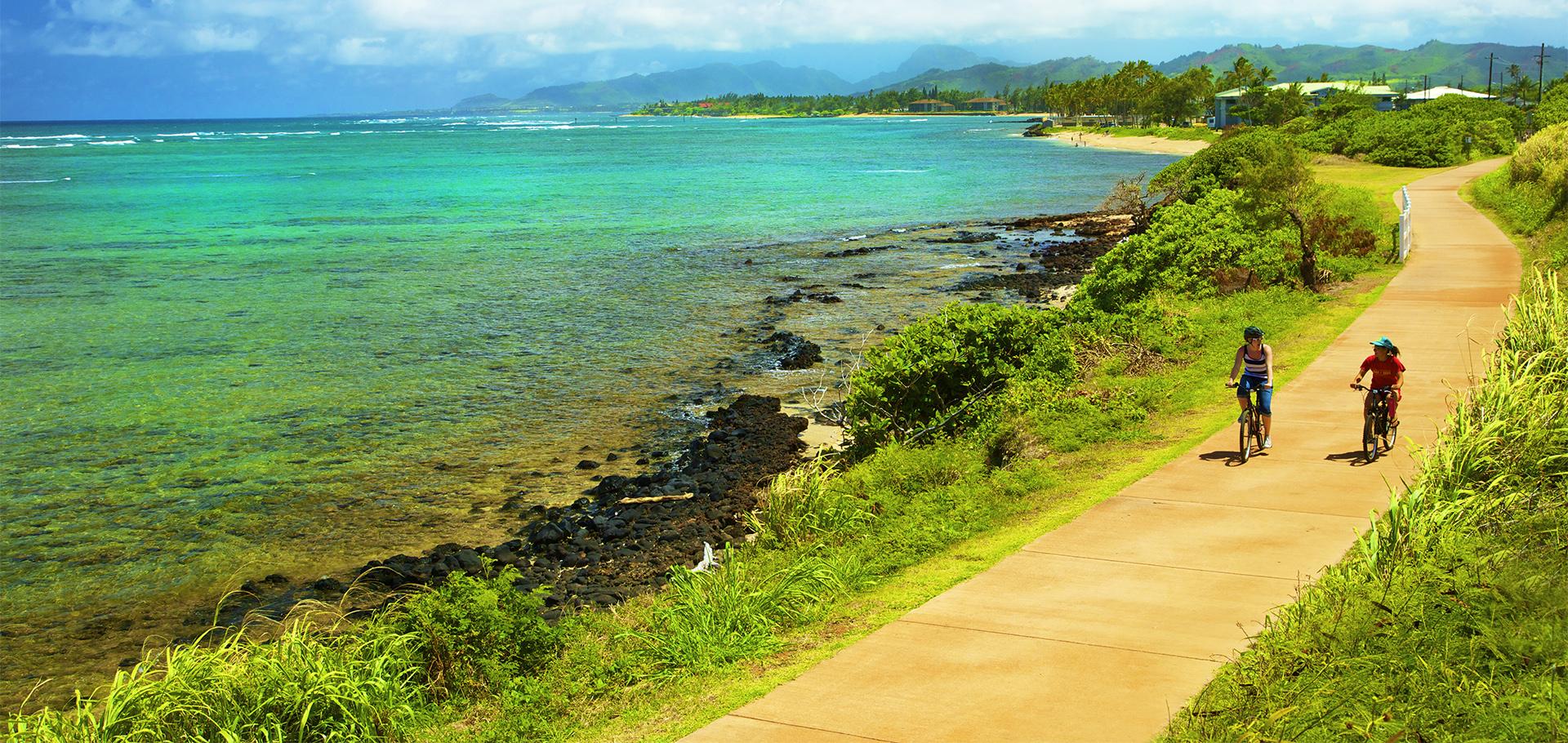 Kapaa bike path on Kauai
