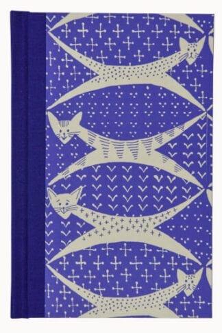 Cats in Purplish Blue- Hand Sown Hardback Notebook